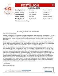 Issue #1 - Swiss Club of Washington, DC