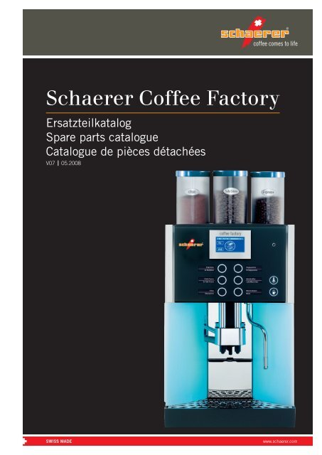 Schaerer Coffee Factory Automatic Coffee Machines | Schaerer