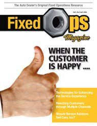 April 08: When the Customer Is Happy - Fixed Ops