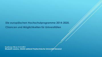 Konferenz Sliven 13.12.2013 Elisabeth Lazarou, DAAD-Lektorat ...