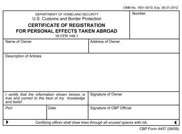 CBP Form 1400 - Forms