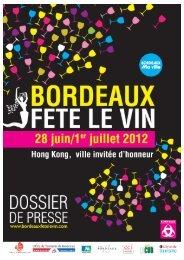 Nouveauté de l'édition 2012 - Bordeaux fête le vin