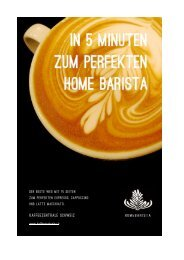 In 5 Minuten zum perfekten Home Barista. - Kaffeezentrale