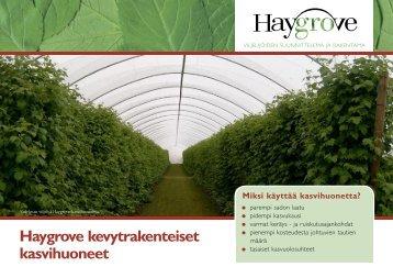Haygrove kevytrakenteiset kasvihuoneet - soininen
