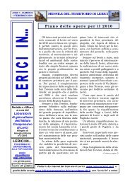 FEBBRAIO 2010 / ANNO 3 - NUMERO 2  - Comune di Lerici