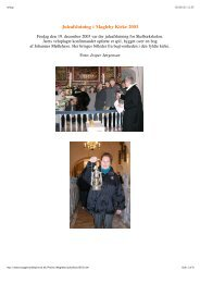 Juleafslutning i Magleby Kirke 2003 - tryggevaeldeprovsti.dk