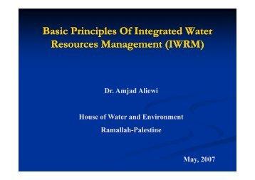Basic Principles of IWRM - Hwe.org.ps