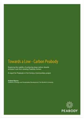 Towards a Low - Carbon Peabody - Peabody Trust
