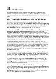 Insiderei, Online Bericht von Daniela Illich, Oktober 2012