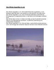 Den Winter begrüßen in mir - der Pfarre Franz von Sales