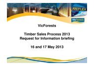 VicForests Timber Sales Process 2013 Request for Information ...