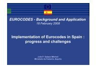 Implementation of Eurocodes in Spain : progress and challenges