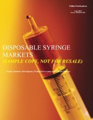 DISPOSABLE SYRINGE MARKETS - SPI Information