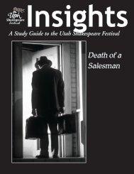 Insights - Utah Shakespearean Festival