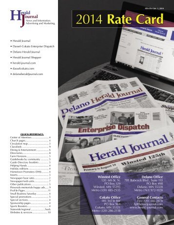 Advertising Rates - Herald Journal