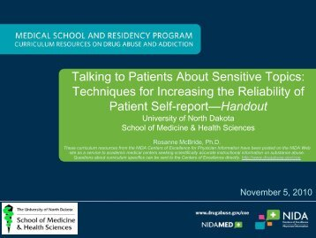 Techniques for Increasing the Reliability of Patient Self-report ...