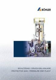 schutzgas / druck-esu-anlage protective gas / pressure esr plant