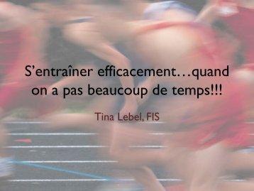 S'entraîner efficacement…quand on a pas beaucoup de temps!!!