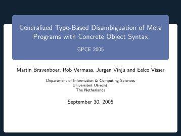 presentation - Martin Bravenboer