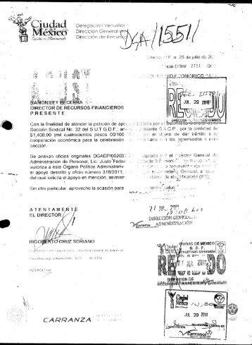 318/2011 - Delegación Venustiano Carranza