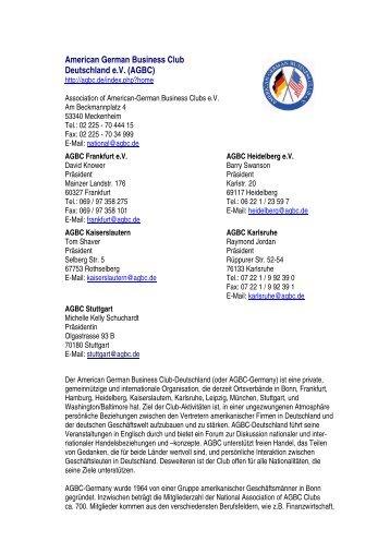 American German Business Club Deutschland e.v. (AGBC)
