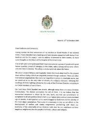 Nachricht des Großmeisters vom Oktober 2009 - St-lazarus-orden.de