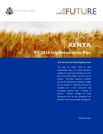 Kenya FY2010 Implementation Plan - Feed the Future