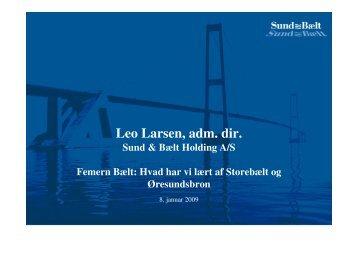 Leo Larsen, adm. dir.