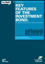 Investment Bond Key Features for Additional ... - Legal & General