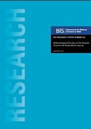 Methodical Review of the Student Income and Expenditure Survey