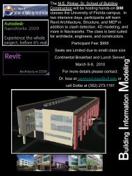 BIM Classes - ME Rinker, Sr., School of Building Construction ...