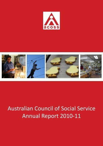 ACOSS Annual Report - Australian Council of Social Service