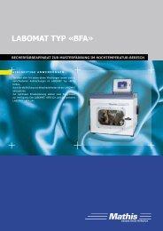 LABOMAT TYP «BFA» - Mathis AG