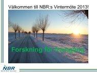 NBR Vintermöte 7. februari 2013 - intro - nordicbeet.nu