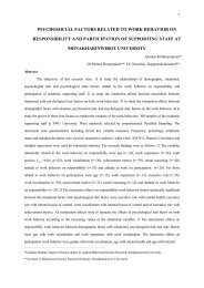psychosocial factors related to work behavior on responsibility and ...