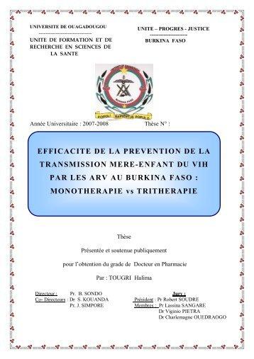 efficacite de la prevention de la transmission mere-enfant