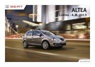 Listino - A.M. 2013 - SEAT Italia