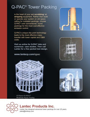 Q-PAC Brochure in PDF Format - Lantec Products