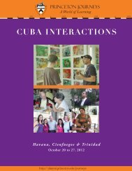 CUBA INTERACTIONS - Alumni Association of Princeton University