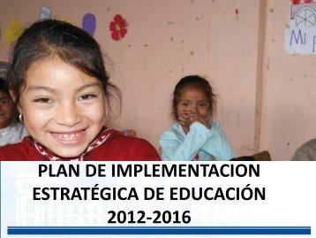 presentacion plan estrategico 2012-2016