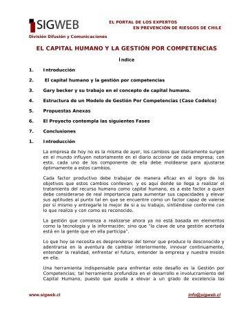 Capital humano, Gestión por competencias - Sigweb