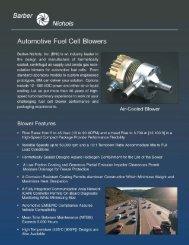 Hydrogen Recirculation Compressors for Fuel Cells