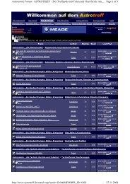 Page 1 of 3 Astronomie Forum - ASTROTREFF - Der Treffpunkt mit ...