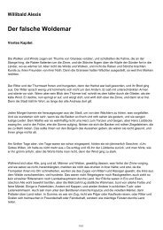 Willibald Alexis Der falsche Woldemar
