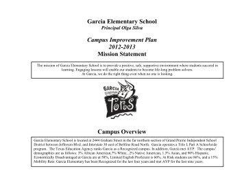 Garcia CIP - Grand Prairie Independent School District