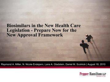 Biosimilars Legislation - Pepper Hamilton LLP