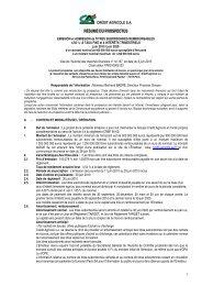 RÉSUMÉ DU PROSPECTUS - Crédit Agricole Alpes Provence