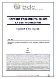 Rapport parlementaire - Base de connaissance AEGE