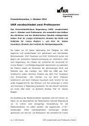 UKR verabschiedet zwei Professoren - Universitätsklinikum ...
