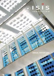 ANNUAL REPORT 2010 - Isis Innovation